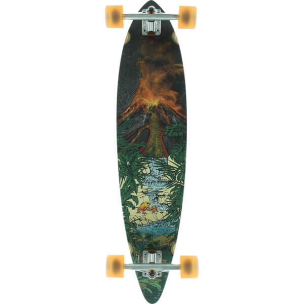 "Globe Pintail Tropic Lava Longboard Complete Skateboard - 8.5"" x 37"""