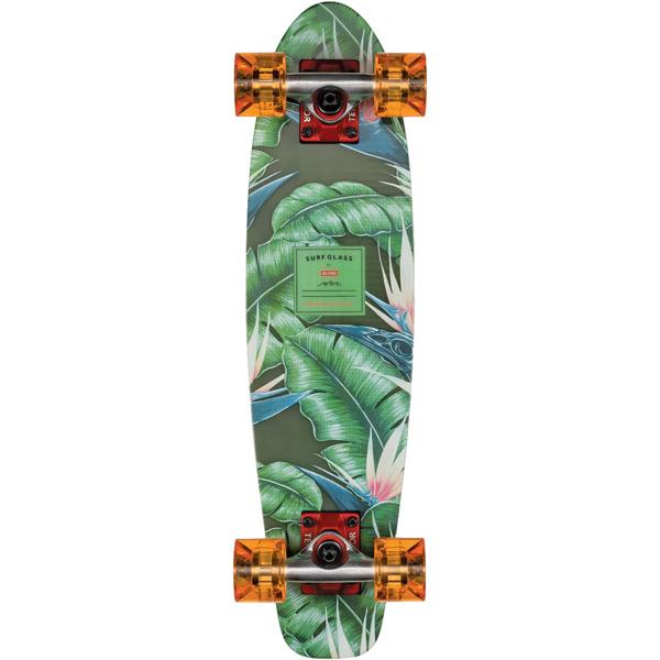 """Globe Surf Glass 24 Waikiki Black Cruiser Complete Skateboard - 6.125"""" x 24"""""""