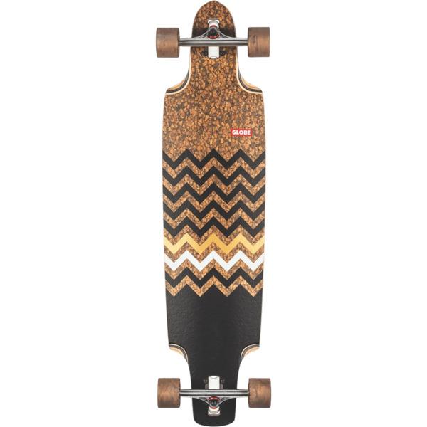 """Globe Spearpoint Cork / Zagged Longboard Complete Skateboard - 9.87"""" x 40"""""""