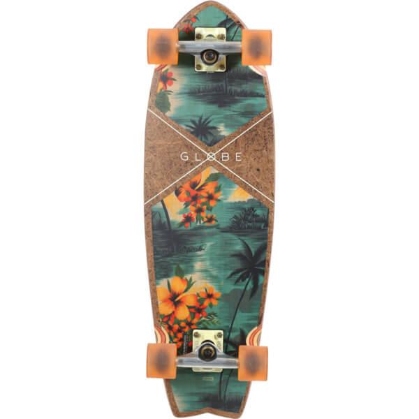"""Globe Sun City Coconut / Hawaiian Cruiser Complete Skateboard - 9"""" x 30"""""""