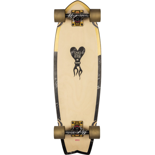 "Globe Sun City Dark Gold / Marble Cruiser Complete Skateboard - 9"" x 30"""