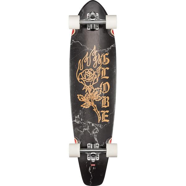 "Globe The All Time Black Rose Longboard Complete Skateboard - 9"" x 35.87"""
