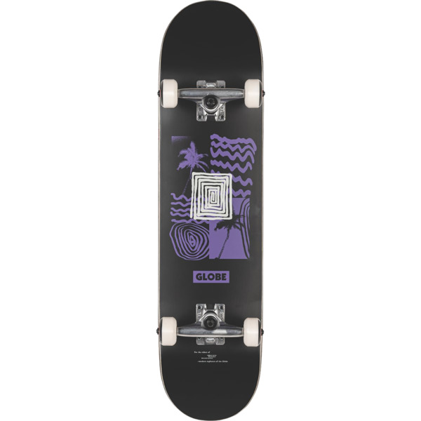 "Globe G1 Fairweather Black / Purple Complete Skateboard - 7.75"" x 31"""