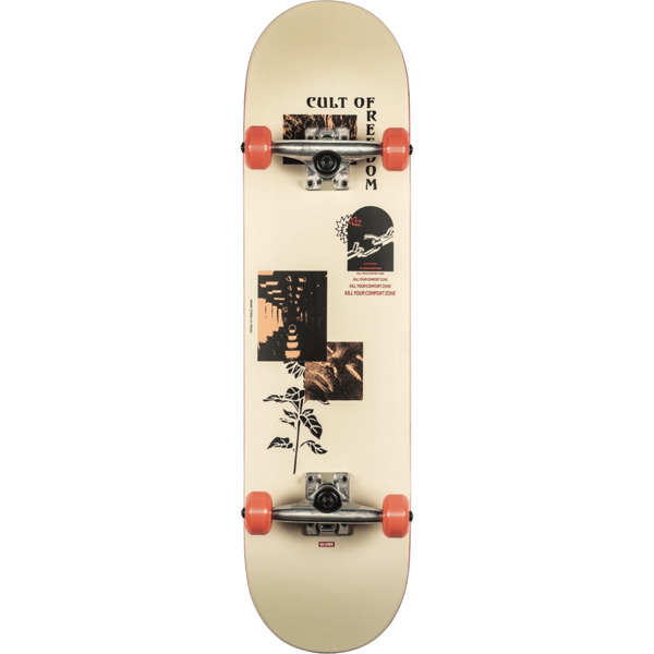 "Globe G1 Parallel Universe Coffee / Off White Complete Skateboard - 8"" x 31.63"""