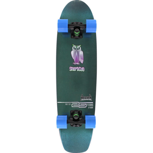 "Kebbek Skateboards Shortcut Cruiser Complete Skateboard - 25th Anniversary - 7.75"" x 30.5"""