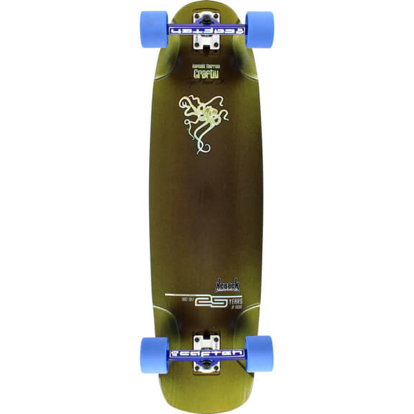 "Kebbek Skateboards Raphael Therrien Crafty Longboard Complete Skateboard - 25th Anniversary - 9.5"" x 36"""