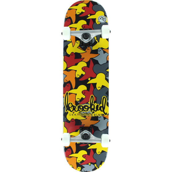 "Krooked Skateboards Bird Camo Yellow Complete Skateboard - 7.75"" x 31"""