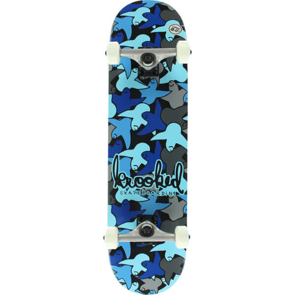 "Krooked Skateboards Bird Camo Blue Complete Skateboard - 8"" x 32"""