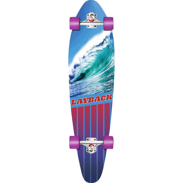 "Layback Longboards Going Left Longboard Complete Skateboard - 9.75"" x 38"""