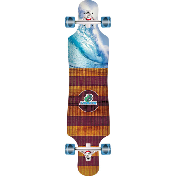 "Layback Longboards Bamboo Pipe Dreams Drop-Through Longboard Complete Skateboard - 9.75"" x 40"""