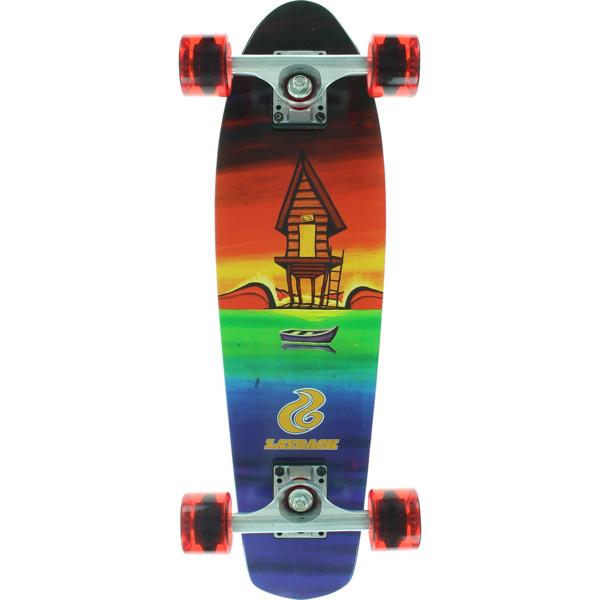 """Layback Longboards Shacked Tie Dye Cruiser Complete Skateboard - 7"""" x 25"""""""