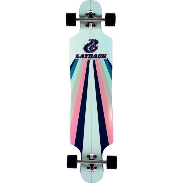 """Layback Longboards Sunstripe DT Mint Longboard Complete Skateboard - 9.75"""" x 40"""""""