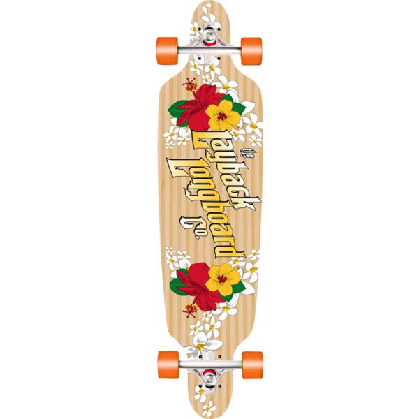"""Layback Longboards Bamboo Wahini Drop-Through Longboard Complete Skateboard - 9.5"""" x 41"""""""