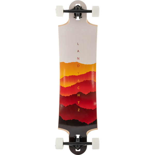 "Landyachtz Switchblade 38 Faded White / Orange / Red Longboard Complete Skateboard - 10"" x 38"""