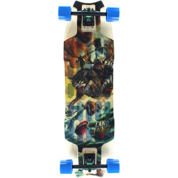 """Landyachtz Wolf Shark Longboard Complete Skateboard - 10"""" x 35.5"""""""