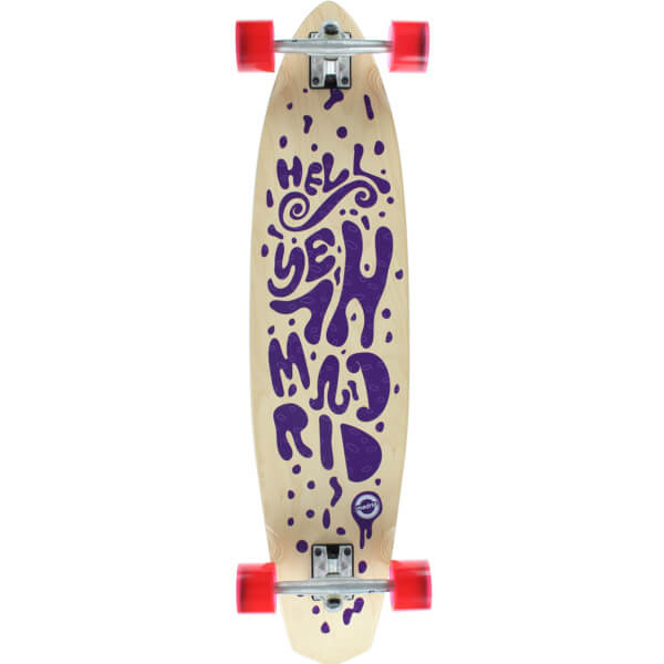 "Madrid Skateboards Dude Lava Longboard Complete Skateboard - 9"" x 38.75"""