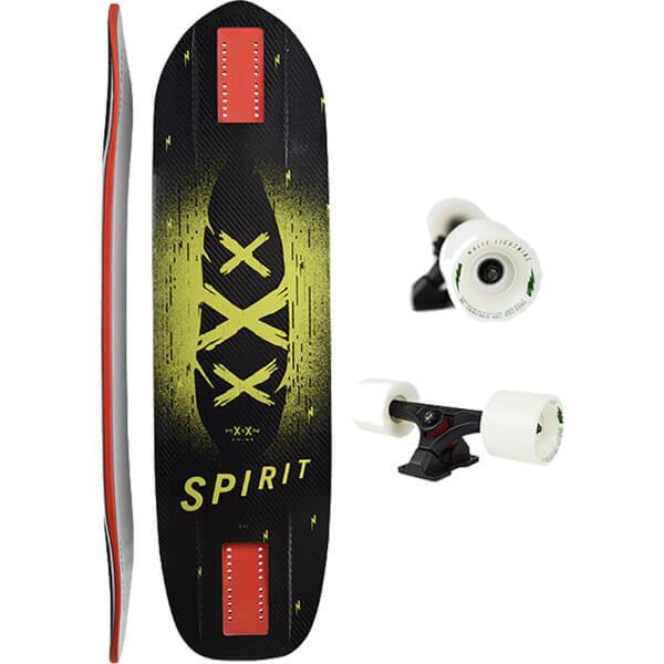"Moonshine MFG 2018 Spirit Carbon Longboard Complete Skateboard - 9"" x 34"""
