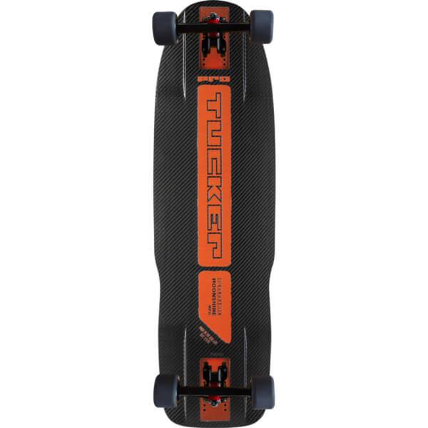 "Moonshine MFG Tucker Natural / Black / Orange Complete Longboard Skateboard - 9.75"" x 33"""
