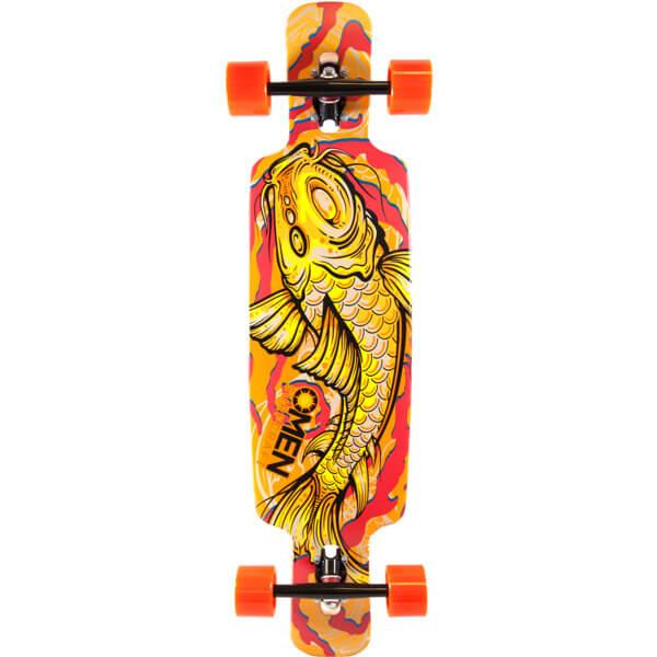 Omen boards koi longboard complete skateboard 9 5 x 38 for Koi warehouse sale