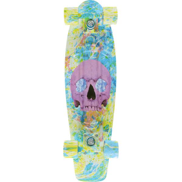 """Penny Skateboards Skull Splatter Cruiser Complete Skateboard - 7.5"""" x 27"""""""