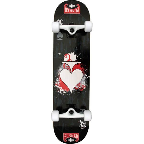 "Punked Skateboards Ace of Spades Complete Skateboard - 7.75"" x 31.5"""