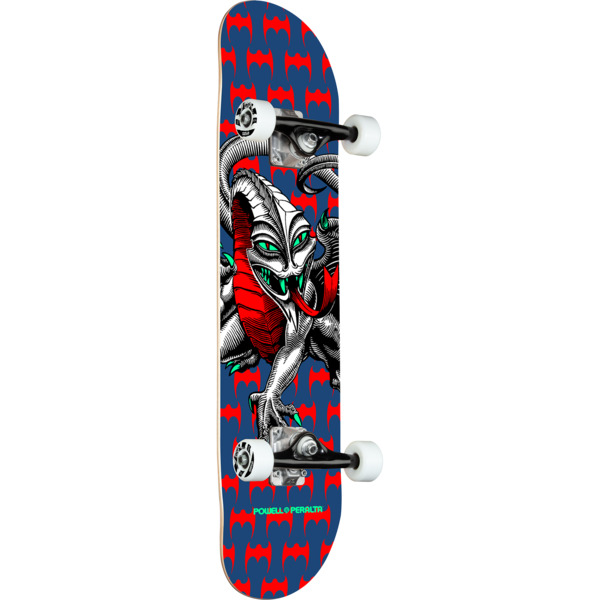 "Powell Peralta Steve Caballero Dragon Navy Mid Complete Skateboards - 7.5"" x 28.5"""