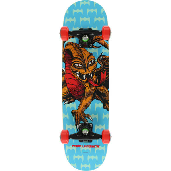 "Powell Peralta Steve Caballero Dragon Blue Mid Complete Skateboards - 7.5"" x 31.75"""