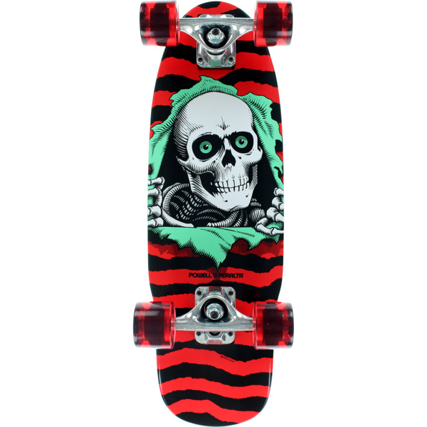"""Powell Peralta Ripper Red Mid Complete Skateboards - 7.5"""" x 24"""""""