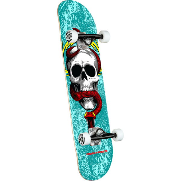 """Powell Peralta Skull & Snake One Off Turquoise Complete Skateboard - 7.75"""" x 31.08"""""""