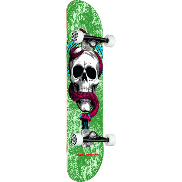 """Powell Peralta Skull & Snake Green Complete Skateboard - 7.75"""" x 31"""""""