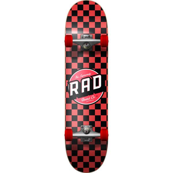 "RAD Wheels Checker Black / Red Complete Skateboard - 7.75"" x 31.25"""