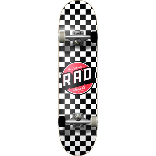 "RAD Wheels Checker 2 Black / White Micro Complete Skateboard - 6.75"" x 28"""