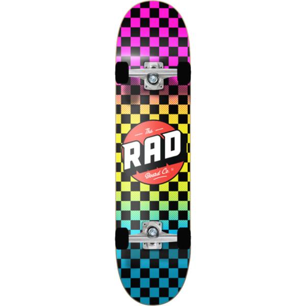 """RAD Wheels Checker 2 Neon Fade Complete Skateboard - 7.75"""" x 31.25"""""""