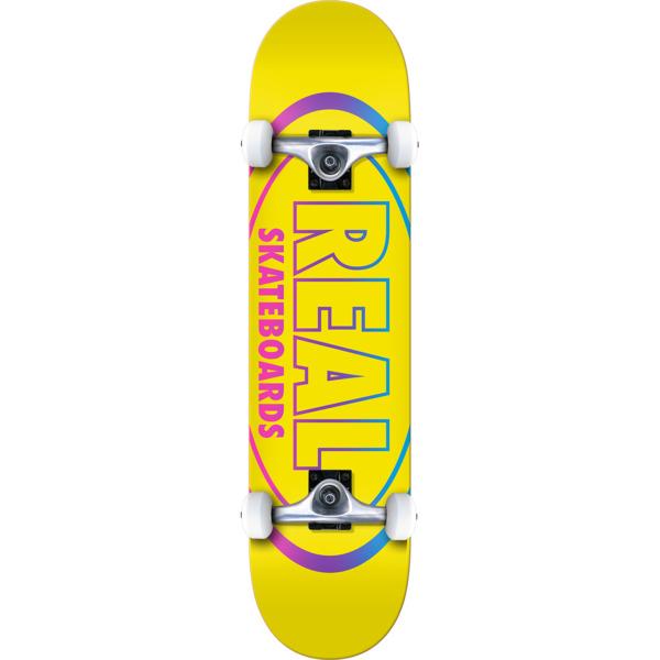 "Real Skateboards Oval Gleam Complete Skateboard - 8.25"" x 32"""