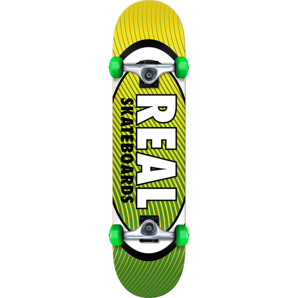 "Real Skateboards Oval Heatwave Mid Complete Skateboards - 7.5"" x 31.75"""