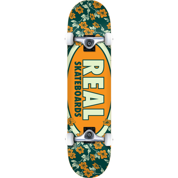 "Real Skateboards Oval Blossoms Mini Complete Skateboard - 7.3"" x 29"""