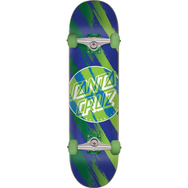 """Santa Cruz Skateboards Brush Dot Complete Skateboard - 7.25"""" x 29.9"""""""