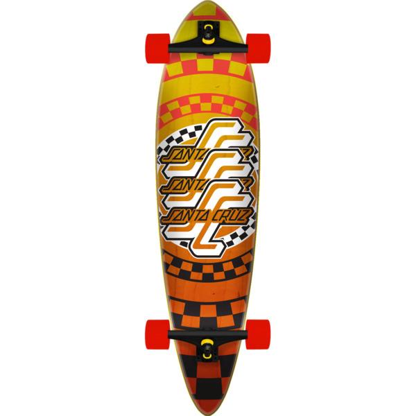 """Santa Cruz Skateboards Check OGSC Pintail Longboard Complete Skateboard - 9.58"""" x 39"""""""