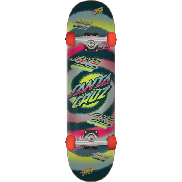 "Santa Cruz Skateboards Hypno Dot Grey / Yellow Complete Skateboard - 7.75"" x 31.4"""