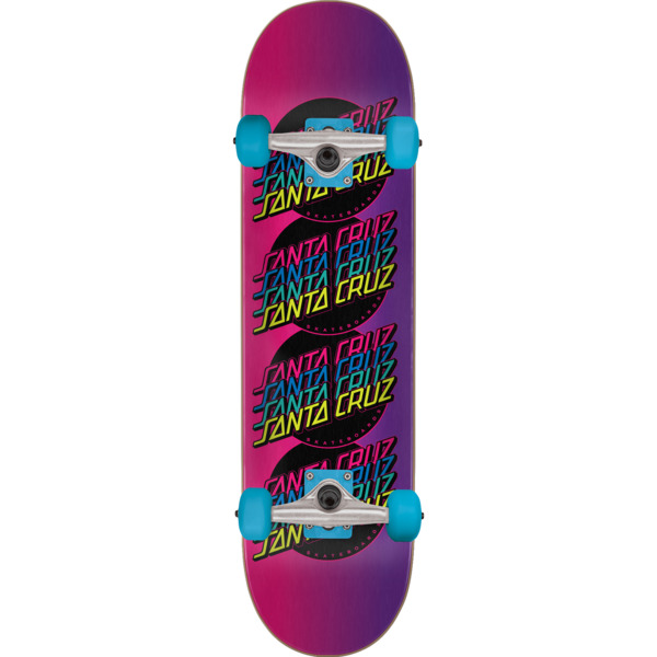 "Santa Cruz Skateboards Multistrip Complete Skateboard - 8.25"" x 31.8"""