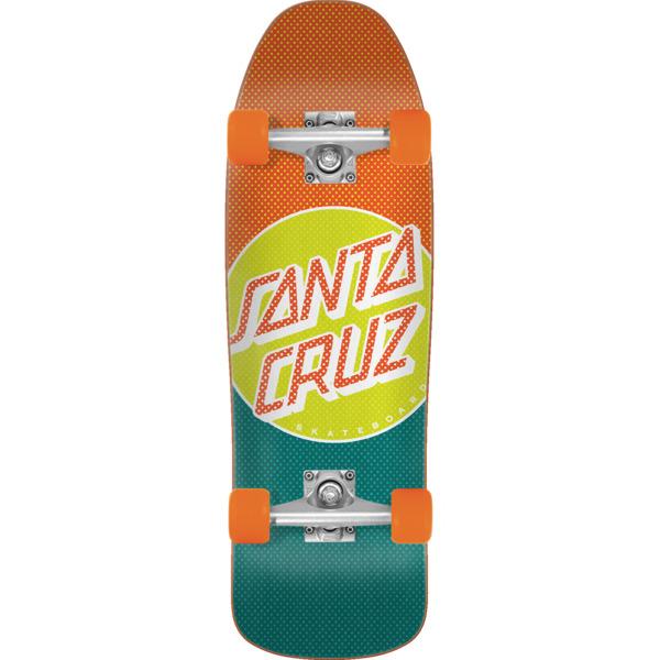 """Santa Cruz Skateboards Process Dot 80's Cruzer Complete Skateboard - 9.35"""" x 31.7"""""""