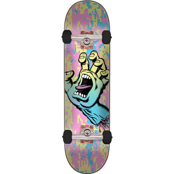 """Santa Cruz Skateboards Screaming Hand Camo Pastel Complete Skateboard - 8"""" x 31.6"""""""