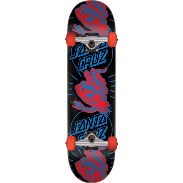 """Santa Cruz Skateboards Snakebite Black / Blue / Red Complete Skateboard - 8.25"""" x 31.8"""""""