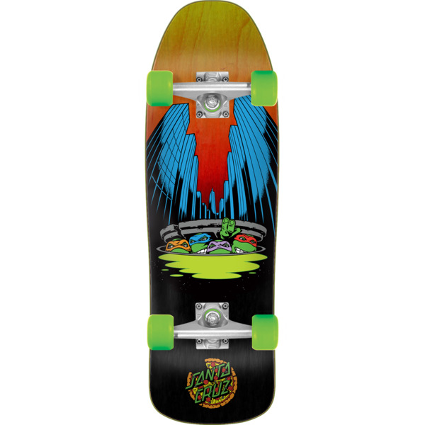 "Santa Cruz Skateboards TMNT Ninja Turtles Cruiser Complete Skateboard - 8.39"" x 26.09"""
