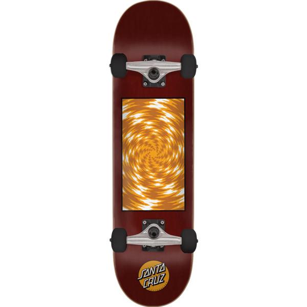 "Santa Cruz Skateboards Tortile Red / Gold Complete Skateboard - 7.8"" x 31.7"""