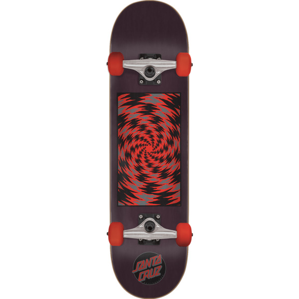 """Santa Cruz Skateboards Tortile Black / Red Complete Skateboard - 8.25"""" x 31.8"""""""