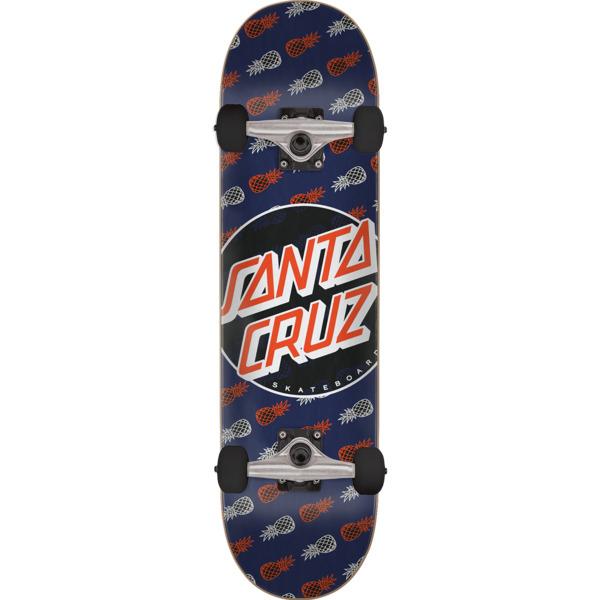 """Santa Cruz Skateboards Tropic Dot Navy Complete Skateboard - 7.75"""" x 31.4"""""""