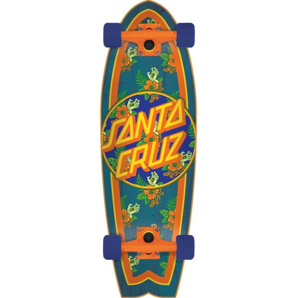 """Santa Cruz Skateboards Vacation Dot Shark Cruiser Complete Skateboard - 8.8"""" x 27.7"""""""