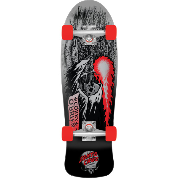 "Santa Cruz Skateboards Corey O'Brien Reaper Mini 80's Cruiser Complete Skateboard - 8.34"" x 26.05"""