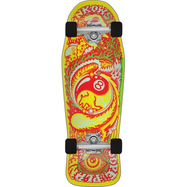 "Santa Cruz Skateboards Erick Winkowski Dope Planet Yellow / Red Complete Skateboard - 10.34"" x 30.5"""